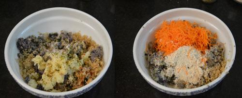 Quinoa black bean patties without eggs
