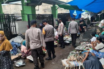 Polsek Tanjung minta Pengunjung pasar Jangan Abaikan Prokes