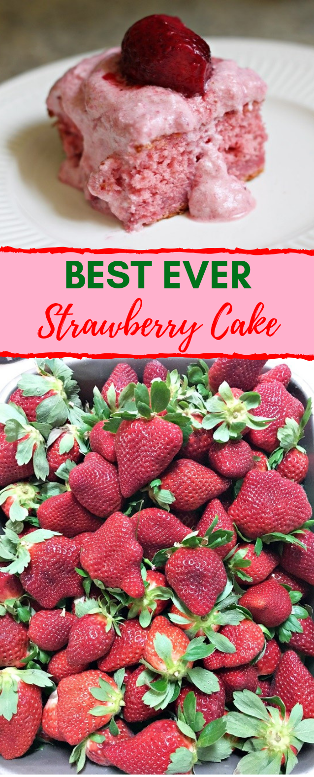 Best Ever Strawberry Cake #desserts #cakes