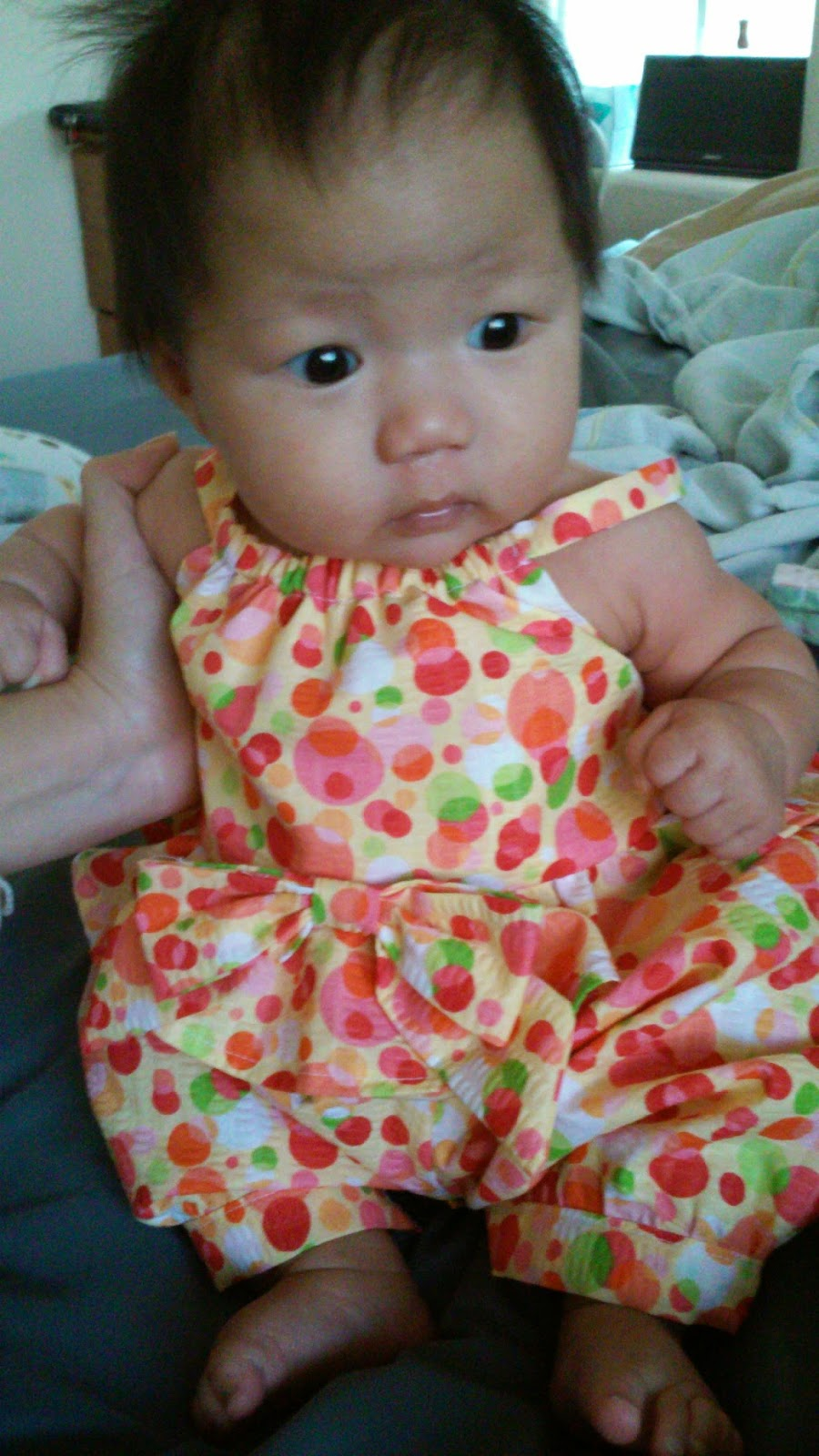 af9c8401436 Just finished this cute little summer romper for her this morning. Pattern  Newlook  6293