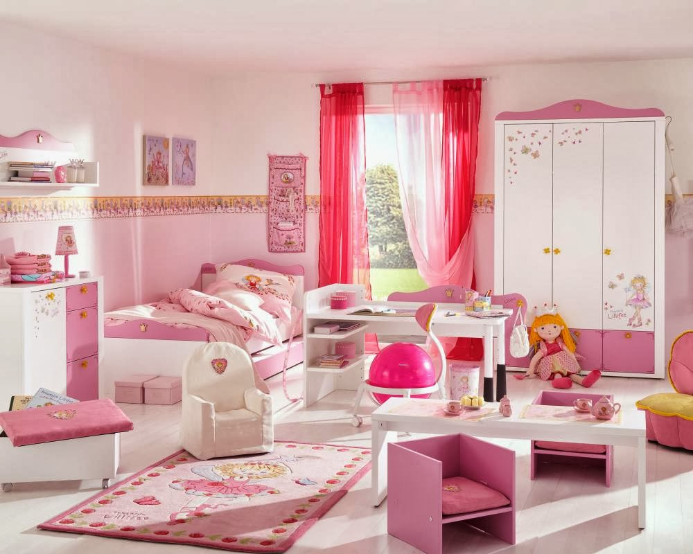 Cuarto de ni a en rosa y lila dormitorios colores y estilos for Decoracion de cuartos para ninas grandes