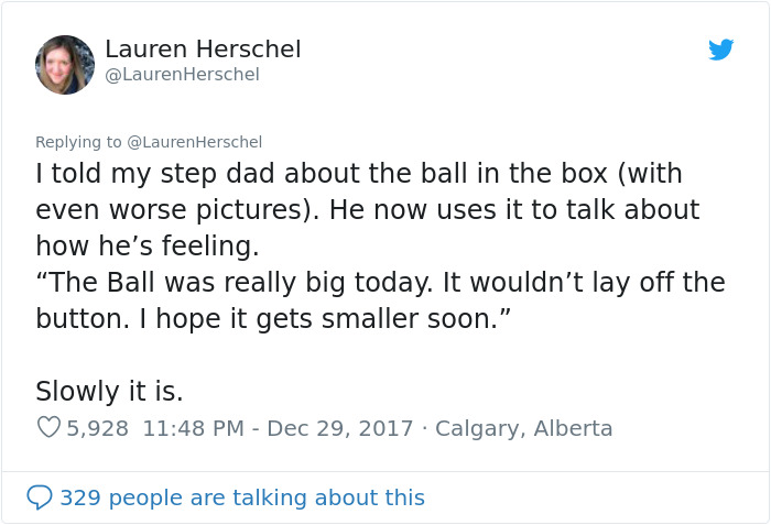 Woman Shares The 'Ball In The Box' Analogy Her Doctor Recommended As A Way To Deal With Grief And It's Powerful