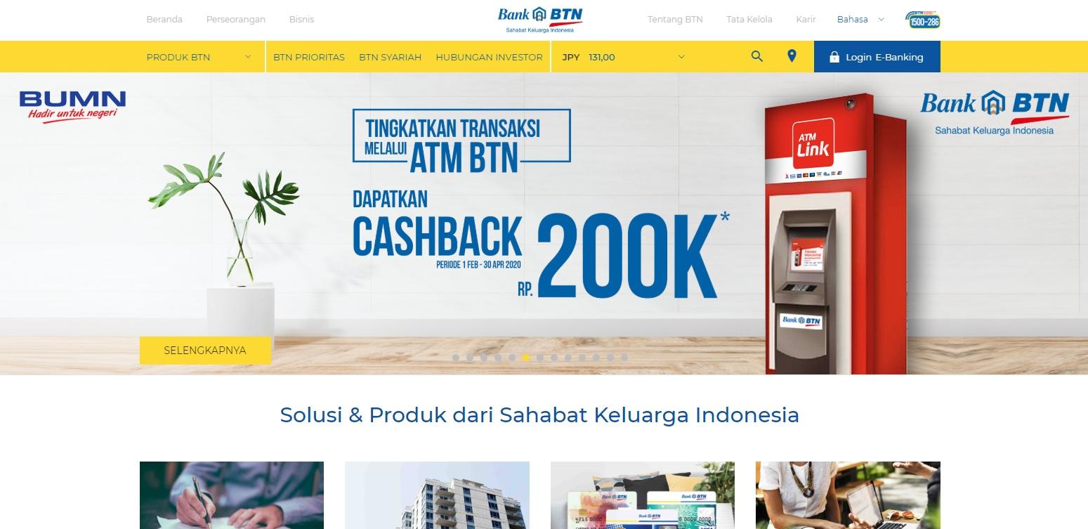 Bank Tabungan Negara atau BTN adalah Badan Usaha Milik Negara Indonesia yang berbentuk perseroan terbatas dan bergerak di bidang jasa keuangan perbankan.