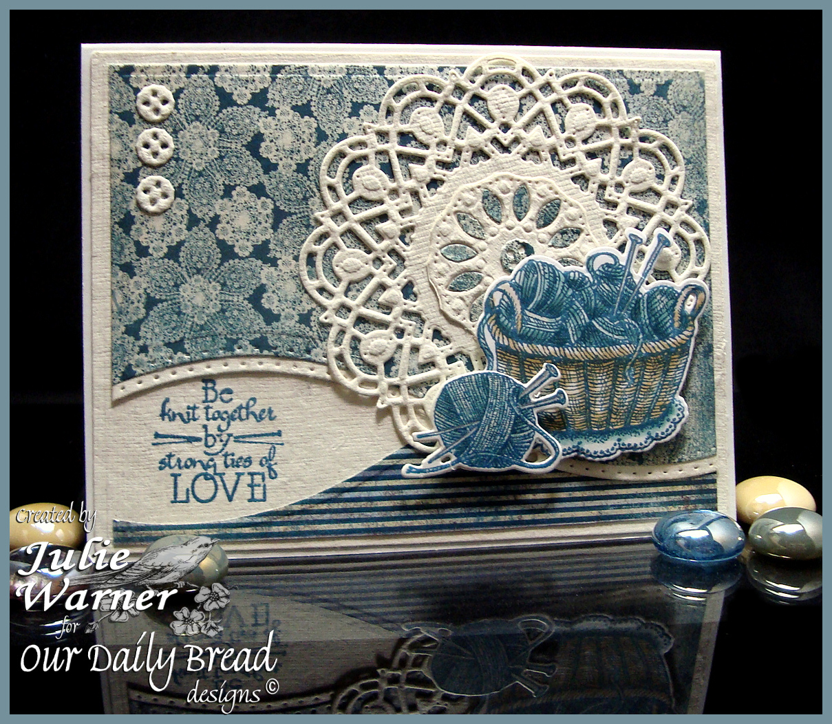 Stamps - Our Daily Bread Designs Hand Knit, ODBD Custom Knitting Basket & Yarn Dies, ODBD Custom Doily Dies