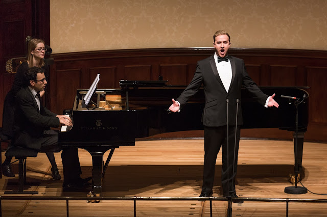 Julien Van Mellaerts and Gamal Khamis during final of Wigmore Hall Song Competition (Photo Benjamin Ealovega)