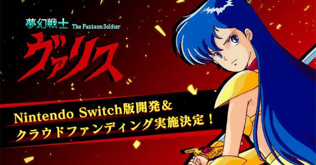 Valis: The Fantasm Soldier, Valis II e Valis III são anunciados para Switch