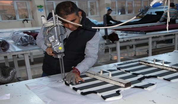 Fabric cutting process in apparel industry