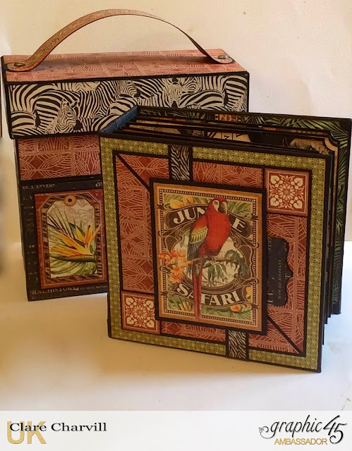 Safari Adventure Flip Front Box and Album Set Clare Charvill Graphic 45