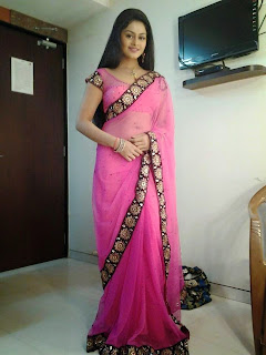 Tanushree chatterjee in Pink Sharee  Picture.jpg