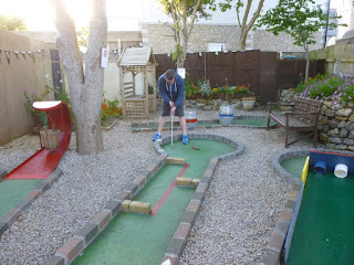 Beer garden Crazy Golf at The Alexandra Inn Penzance, Cornwall