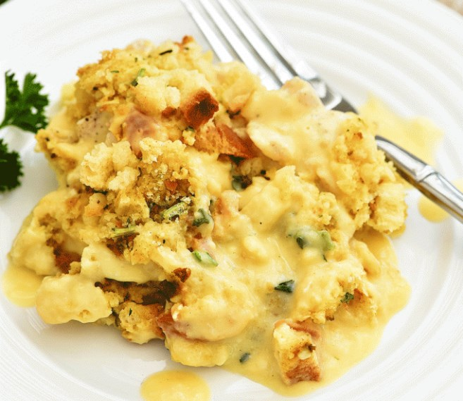 Chicken Stuffing Bake #dinner #recipes
