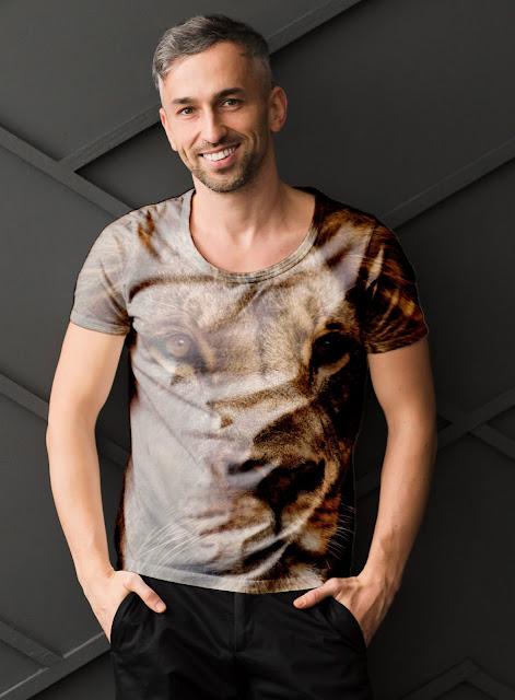 PSD T-Shirt Mock-Up For Men