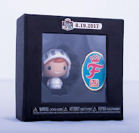 White Knight Freddy Pint Size Hero & Commemorative Pin Set