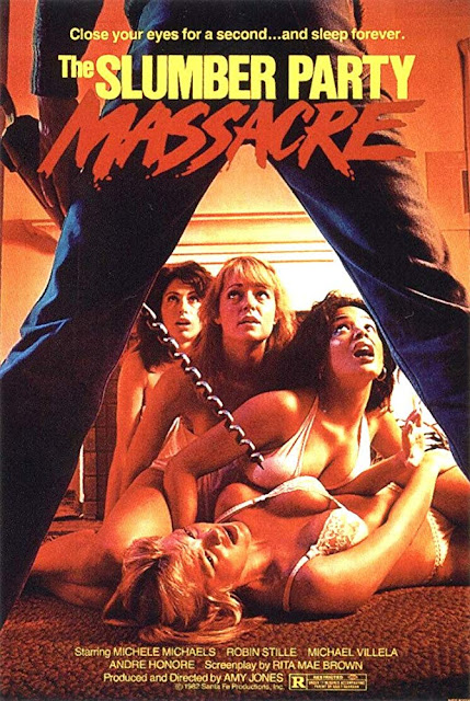 The Slumber Party Massacre 1982 movie poster, produced by New World Pictures