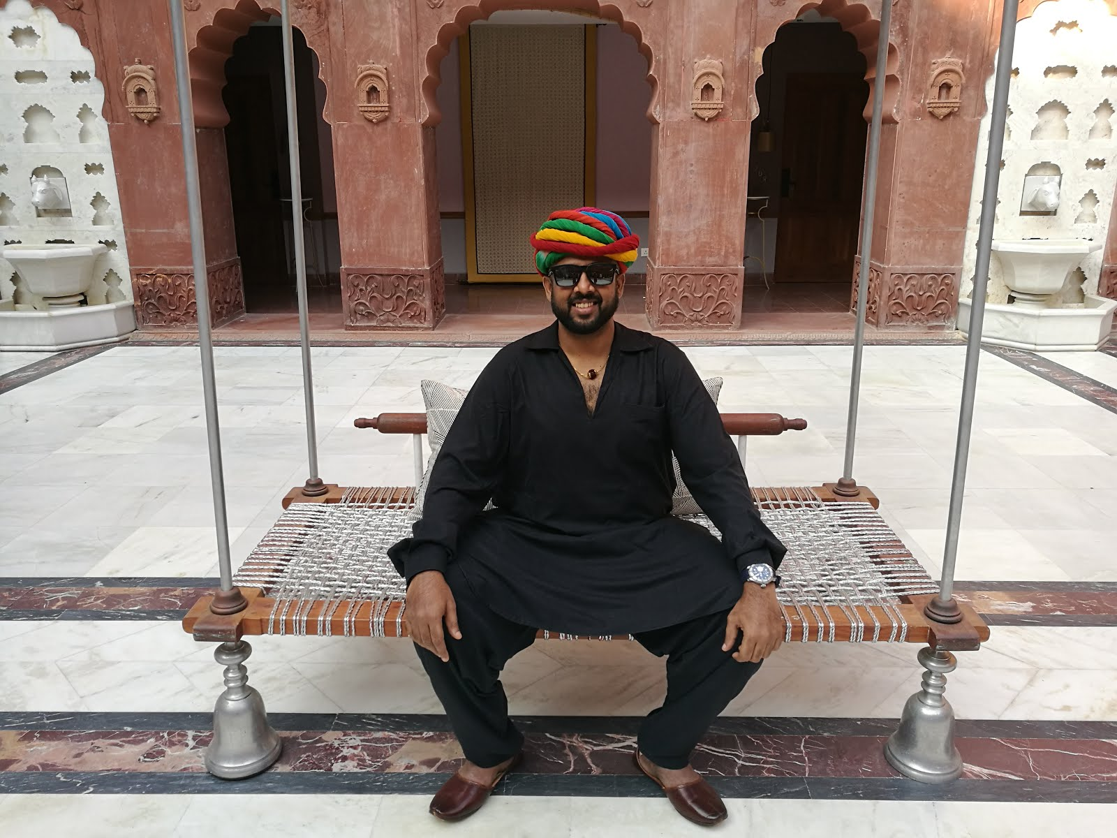 Chilling out at Narendra Bhawan, Bikaner