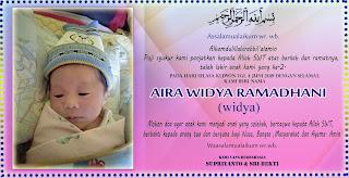 kartu tasyakuran kelahiran bayi