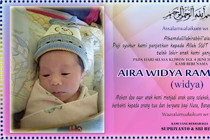 Ucapan Tasyakuran Kelahiran Bayi dan Aqiqah