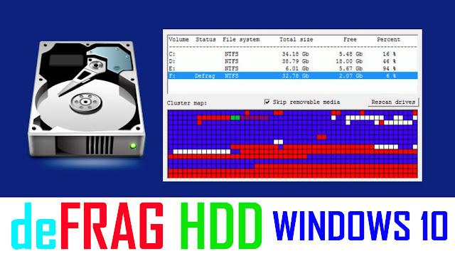 Cara deFragmentasi HDD pada PC dan Laptop yang Mulai Lambat di Windows 10 Khusus Pemula
