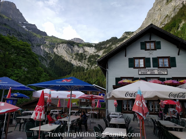 Hiking to Horbis from Engelberg with a Big Family
