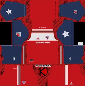 FC Dallas 2018 -  Dream League Soccer Kits