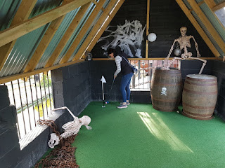 The Smuggler's Jail hole on the Smugglers Bay Adventure Golf course at Stonham Barns