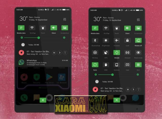 Download Tema Xiaomi MIUI Black Os Light For MIUI 8 / MIUI 9