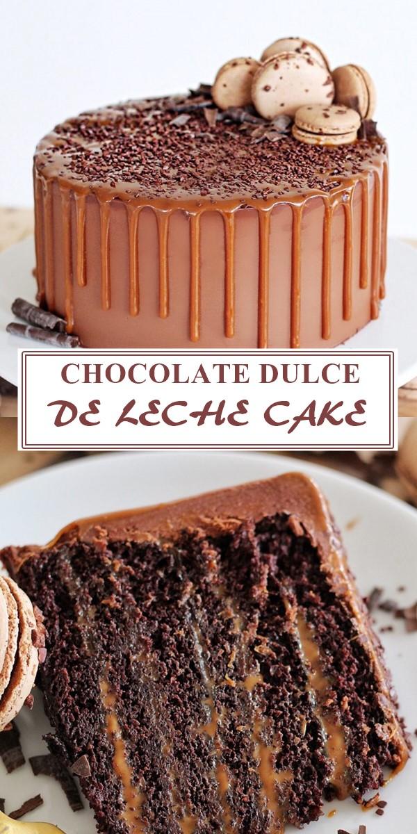 CHOCOLATE DULCE DE LECHE CAKE #Cakerecipes