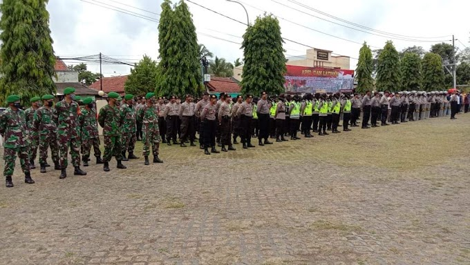 PLH Kasdim 0709/Kbm Hadiri Apel dan Latihan Dalam Rangka Pam Pemilu