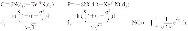 權證之B-S模型公式
