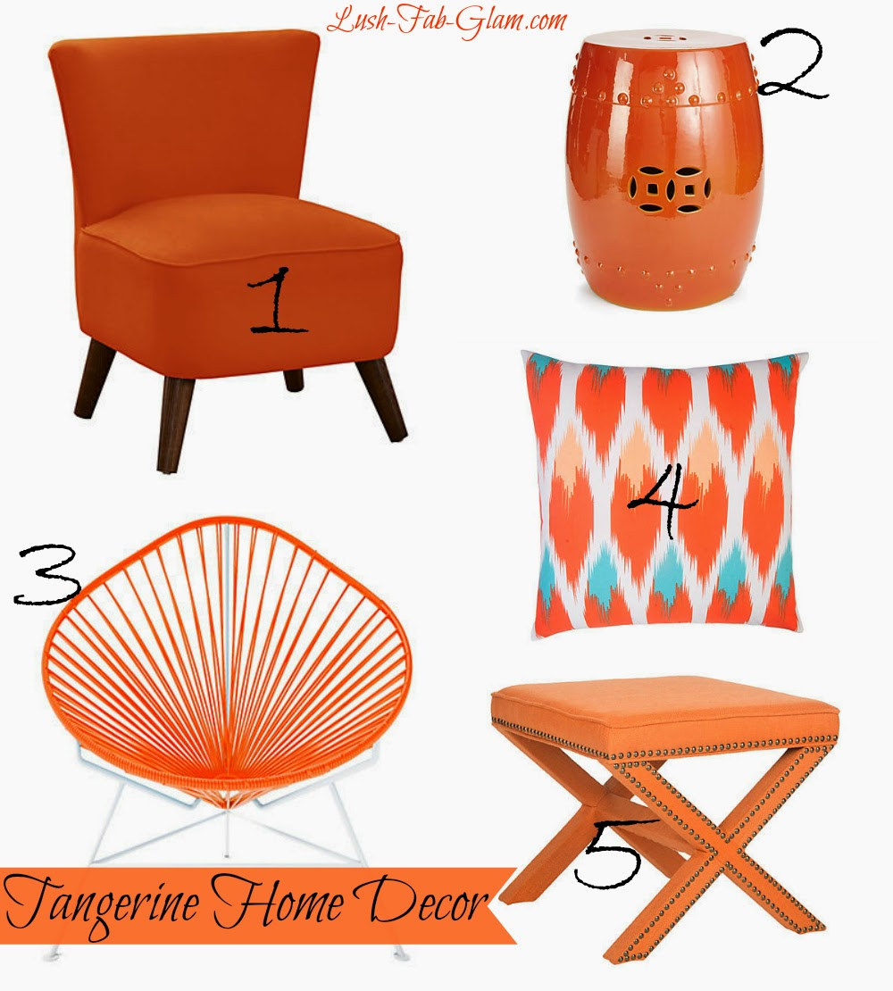 Barnes Modern Chair Tangerine 2 Kelly Garden Stool 3 Acapulco 4 Apollo Cotton Pillow 5 Palmer Ottoman 6 Accent Wood Box