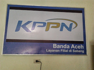 Papan Layanan Filial KPPN Banda Aceh di Sabang