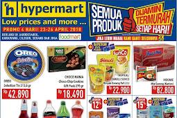 Katalog Promo Hypermart Weekday Terbaru 23 - 26 April 2018
