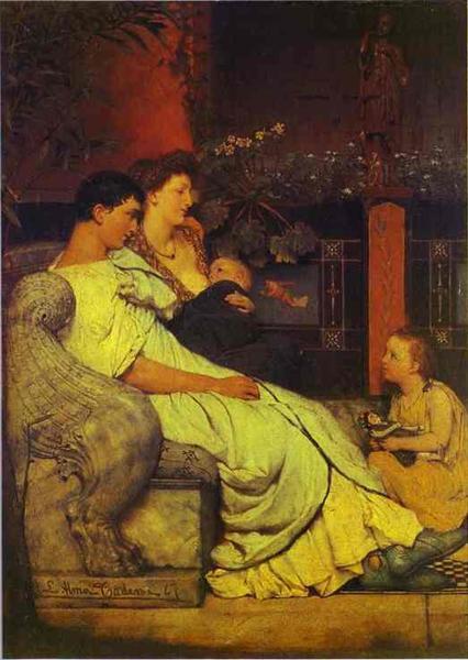 Familia romana. Pintura de Alma Tadema