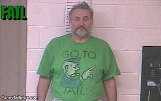 monopoly go to jail tshirt in mugshot funny