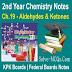 Aldehydes and Ketones 2nd Year Chemsitry Notes