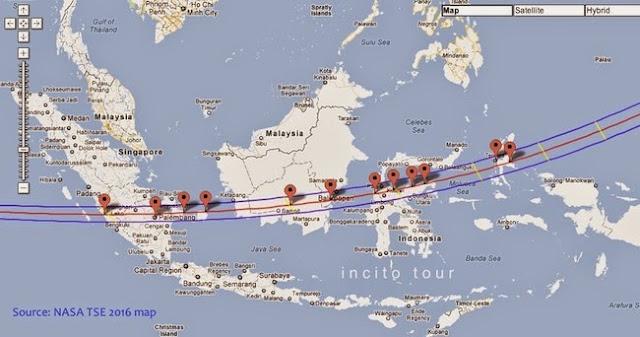 inilah 10 daerah indonesia yang akan merasakan gerhana matahari sebagian