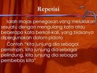 Contoh Majas Repetisi dan Contoh Kalimat Repetisi
