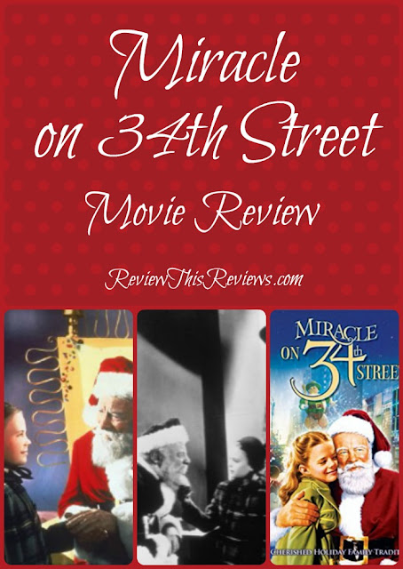 I've never doubted that Santa Claus is real, possibly because when I was a little girl I watched the movie Miracle on 34th Street. Here's my movie review.
