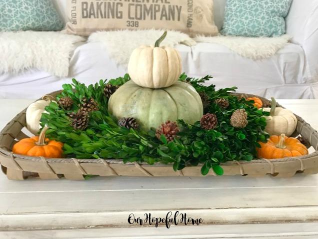 boxwood wreath pumpkin topiary tobacco basket