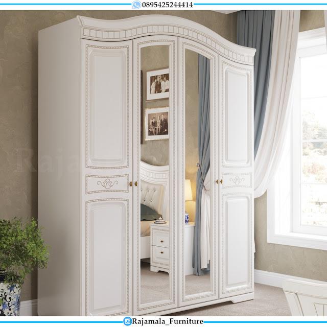 Harga Lemari Baju Putih Duco Mewah Luxury Elegant Quality RM-0374