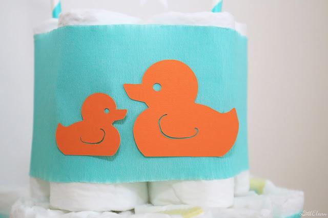 Selbstgemachte - Gebastelte - Windeltorte - Enten - Geburtsgeschenk