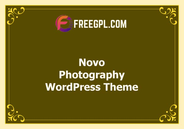 Novo – Photography WordPress Theme v3.1.6 Free Download