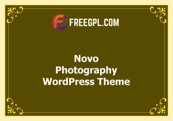 Novo – Photography WordPress Theme v3.1.6 Free Download