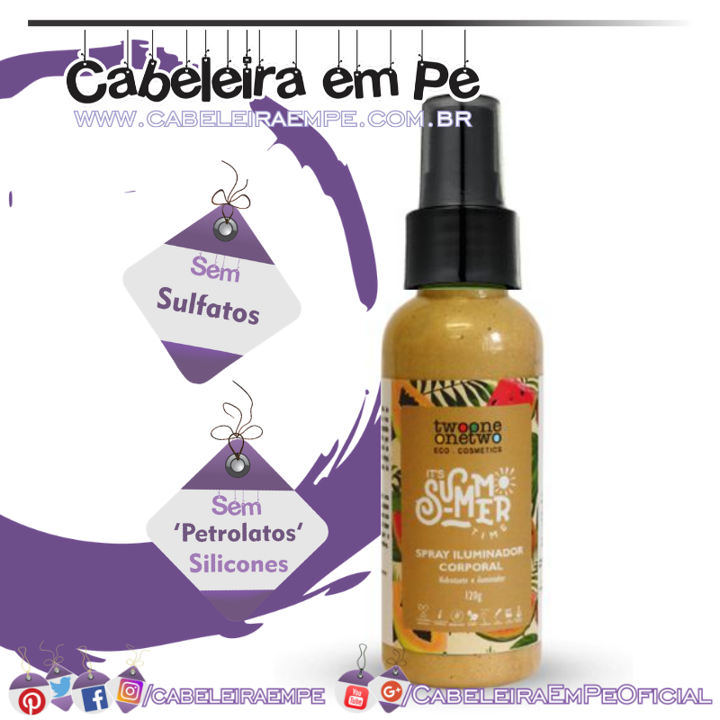 Spray Iluminador Corporal It´s Summer Time - TwoOne OneTwo