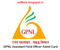 GPNL Assistant Field Officer Admit Card