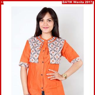 B7TBD Baju Batik Mayang Oranye Kombi 2017 Bj98B7