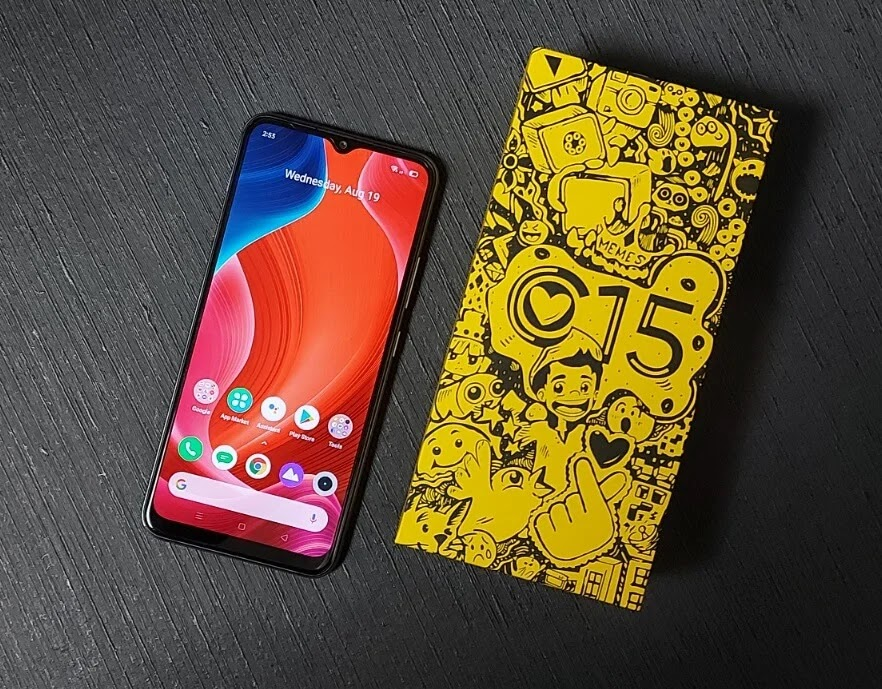 Realme C15 Mini-Drop Fullscreen HD+  Display