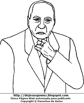 Imagen de Francisco Morales Bermúdez para colorear pintar imprimir. Dibujo de Francisco Morales Bernúdez de Jesus Gómez