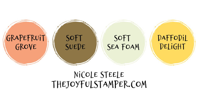 Yes or no to Grapefruit Grove, Soft Suede, Soft Sea Foam, and Daffodil Delight color combination?