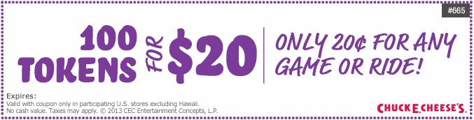photo relating to Chuck E Cheese Coupon Printable identify Printable discount coupons for chuck e cheese 100 tokens : Ninja